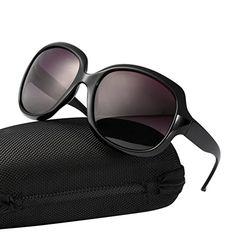 07560a7f4b1d79 Vbiger Damen Polarisierte Sonnenbrille Übergroße Sonnenbrille Retro Großer  Rahmen UV-Schutz Sonnenbrille mit Tasche und