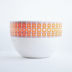 Rare Mint Pink & Orange Kehrä Finel Enamel Bowl by NewSwedenVintage