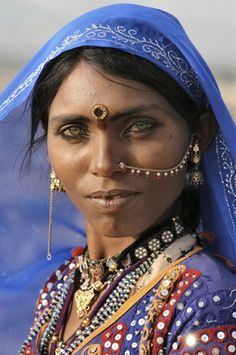 Papu, a Bhopa woman from the Thar, Rajasthan