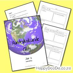 Gebruik die HDD Aardrykskunde Gids 2 om 'n jaar se aardrykskunde saam te stel volgens julle behoeftes oor Suid-Afrika. Home Schooling, Afrikaans, Hdd, Homeschool, Words, Projects, Afrikaans Language, Homeschooling