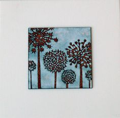 Enamel tile by Janine Partington