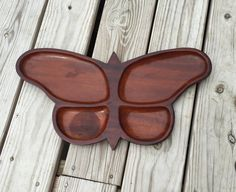 Butterfly Tray Serving Tray Wood Tray by TheCookieClutch on Etsy