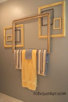 Towel Rack and many more DIY picture frame ideas