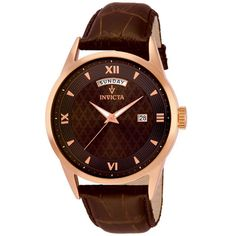 Invicta 12247 Men's Vintage Brown Dial Brown Leather Strap Watch