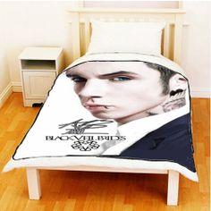 "Andy Biersack BVB American Rock Band Throw Fleece Blanket size 60"" X 80"" #1"