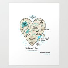 Buy A Map of the Introvert's Heart by Gemma correll as a high quality Art Print. Worldwide shipping available at Society6.com. Just one of millions of…