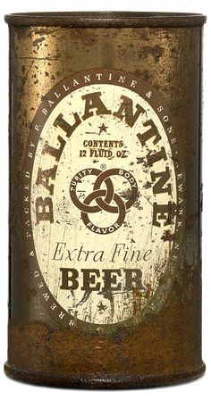 ABC Ballantine vintage beer can