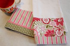 Floral Tea Towel flour sack kitchen hand towel by CozyByChristine, $21.00