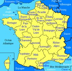 Regions of France France Map, France Travel, Paris France, French Basics, French For Beginners, French Teacher, Teaching French, How To Speak French, Learn French