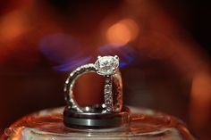 Princess cut diamond wedding band at the destination wedding in the Banyan Tree Mayakoba with Patty and Gregory
