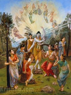 : Nara-Narayana Rishi, who is perfectly peaceful and is the best of sages, was born as the son of Dharma and his wife Murti, the daughter of Daksha. Nara-Narayana Rishi taught the devotional service of the Lord, by which material work ceases, and He Himself perfectly practiced this knowledge. He is living even today, His lotus feet served by the greatest of saintly persons.