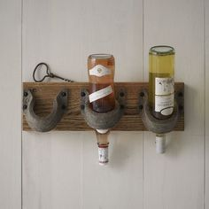 Wood + Felt Bottle Holder