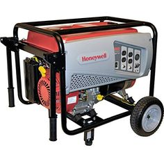 Honeywell 6036, 5500 Running Watts/6875 Starting Watts, Gas Powered Portable Generator (Discontinued by Manufacturer)  Built to last: With a steel frame protecting the engine from damage, a Honeywell portable generator is ideal for home emergency, events, power tools and more Engine protection: Low-oil shutdown detects low oil level and shuts the engine down to prevent potential engine...