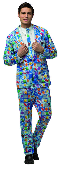 Game Board Suit #3951 Candy Crush is one of the most popular games in the world so why not wear the Game Board Suit?  Others will have a crush on you when you show up with the newest and sweetest costumes at the party.  Crush time! #halloween #party #event #costumes