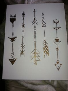geometric arrow tattoo designs