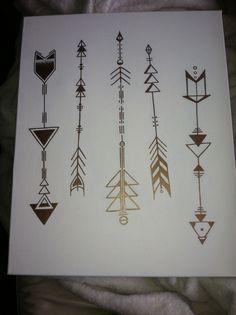 Geometric arrows on canvas by Lauren Elizabeth.