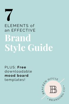 The 7 Elements You Need for an Effective (and Gorgeous! About: brand style guide inspiration, mood board Inspiration Ideas, handmade business branding tips. Logo Branding, Business Branding, Business Design, Branding Ideas, Business Tips, Boutique Logo, Simple Website Design, Brand Style Guide, Logo Design Inspiration