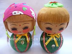 coconut carving coconut shell Folk arts and crafts lovely doll Picture700 x 525 | 71 KB | www.aliexpress.com