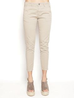40WEFT MELITAS - Pantalone Chinos microfantasia Beige Pantaloni - TRYMEShop
