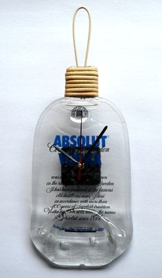 http://www.afday.com/collections/lamps/products/absolut-bottle-clock  Rs 950