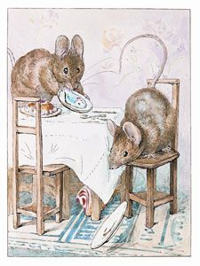Image from 'The Tale of Two Bad Mice', The ham falls - Copyright Frederick Warne & Co, 2004