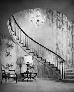 1940s Hollywood Regency Schonlaw-Entry-Beverly Hills by Mary Burns
