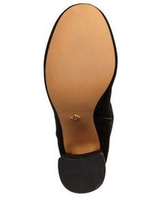 Nanette by Nanette Lepore Lisette Embroidered Over-The-Knee Boots - Black 9.5M