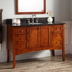 "48"" Cadmon Vanity Cabinet - Antique Cherry - Undermount"