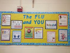 """The Flu and You"" bulletin board in my Health Office."