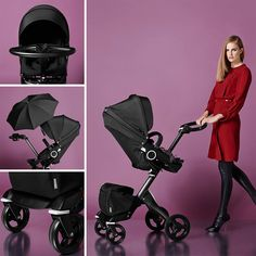 Red Carpet not required - True Black Stroller #wow #kids #style #fashion #colors #StokkeXplory