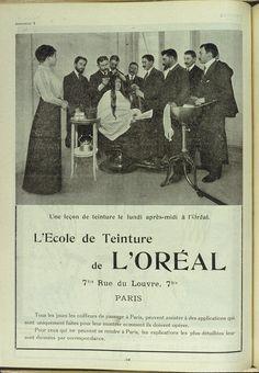 À force de détermination et d'ambition, Eugène Schueller parvient à convaincre les coiffeurs parisiens d'utiliser ses teintures. Fourmillant d'idées pour sa nouvelle société, il engage des représentants pour sillonner la France et proposer ses produits. Il monte également une école de coloration Rue du Louvre à Paris. © L'Oréal