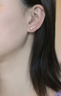 Mismatched Shooting Star Ear Climber and by MichelleChangJewelry
