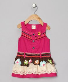 Take a look at this Fuchsia Floral Drop-Waist Dress - Infant, Toddler & Girls by the Silly Sissy on #zulily today!