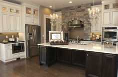 THIS is a pretty kitchen. Tri-Cities 2012 Parade of Homes Kitchen Redo, Kitchen Layout, Kitchen Remodel, Kitchen Design, Kitchen Ideas, Open Kitchen, Beautiful Kitchens, Cool Kitchens, Parade Of Homes