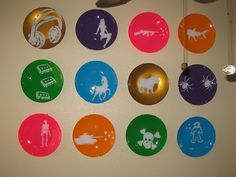 Painted Plates by vozchica, via Flickr