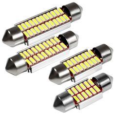 Color Blanco 12 V Wide.ling 10 Bombillas LED de 36 mm para Interior de Coche SMD 5050 Festoon