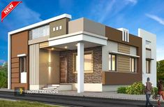 House Balcony Design, House Outer Design, Single Floor House Design, Modern Small House Design, House Outside Design, Modern Exterior House Designs, Village House Design, Bungalow House Design, House Front Design