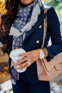 Perfect fall outfit for a business and casual look. Louis Vuitton reversible sca… Perfect fall outfit for a business and… Fall Fashion Outfits, Mode Outfits, Fall Fashion Trends, Cute Fashion, Look Fashion, Winter Fashion, Womens Fashion, Feminine Fashion, Summer Outfits