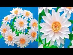 Beautiful White Flower Making With Paper/DIY/Paper craft/Paper art/Easy Paper Flower Bouquet - YouTube Vj Art, How To Make Paper Flowers, Flower Making, Diy Paper, White Flowers, Channel, Arts And Crafts, Bouquet, Youtube