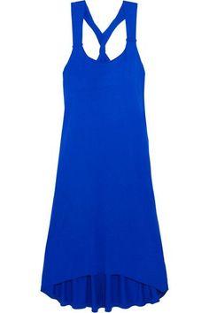 Heidi Klein - Lisbon Twist-back Jersey Dress - Bright blue - x small