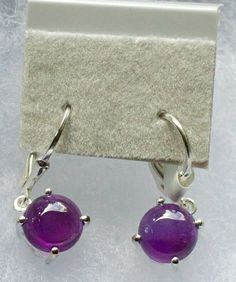 Amethyst (Rnd) Lever Back Earrings in Sterling Silver Nickel Free TGW 4.25 cts.   $28.00