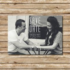 Save The Date  #savethedate #blackandwhite #engagement #wedding #announcement