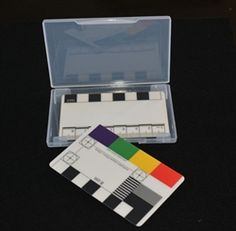 Set of colour photo scales in box Micro Scale, Stone Age, Secret Santa, Card Sizes, Archaeology, Blue Green, Plastic, Colour, Box