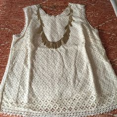 Lace tank top From Target but posting in Anthropologie for views. I have the tank in 2 colors - let me know which you want and I can make a separate listing. They're both in great condition. Anthropologie Tops Tank Tops