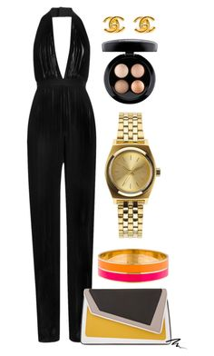 """Untitled #207"" by carolinadcnunes ❤ liked on Polyvore featuring Chanel, Balmain, âme moi, Eyeko, Kate Spade, Nixon and MAC Cosmetics"
