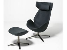 High-back armchair with 4-spoke base with headrest SHELTER | Armchair with 4-spoke base - Tacchini Italia Forniture