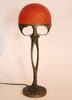 Настольная лампа от Поля Фолло, примерно 1905 год / Art Nouveau Table Lamp by Paul Follot ca.1905