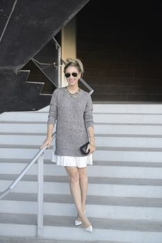 Gray Sweater Dress with