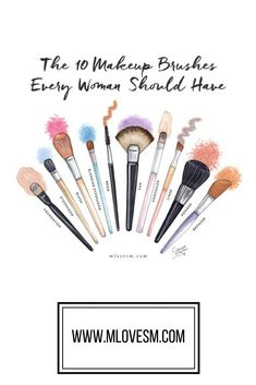 These are the 10 makeup brushes every woman should have to make doing their makeup easier. Having the right makeup brushes is one of my favorite beauty tips!