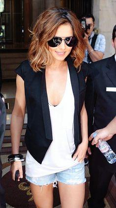 Cheryl Cole summer street style...lovin' the hair as well